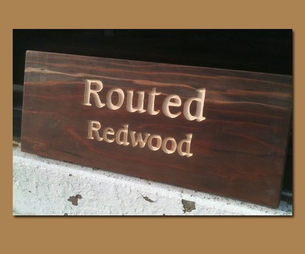 Routed Redwood