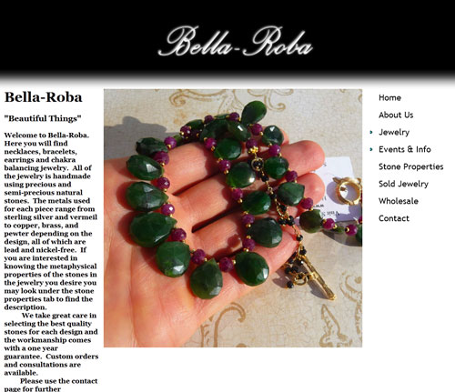 Bella Roba Jewelry Website
