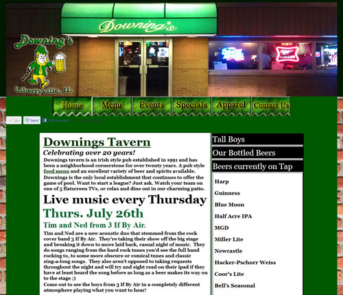 Downings Tavern Website