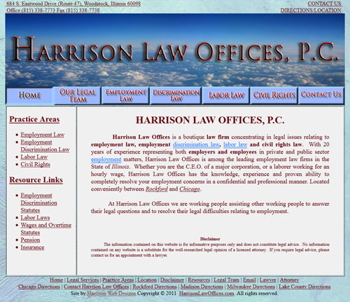 Harrison Law Offices Website